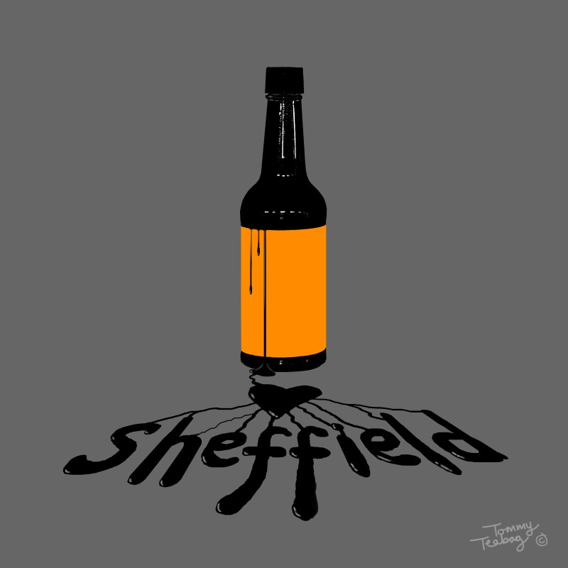 "Tommy Teabag - ""The Spill"" Hendo's Sheffield Art Print"
