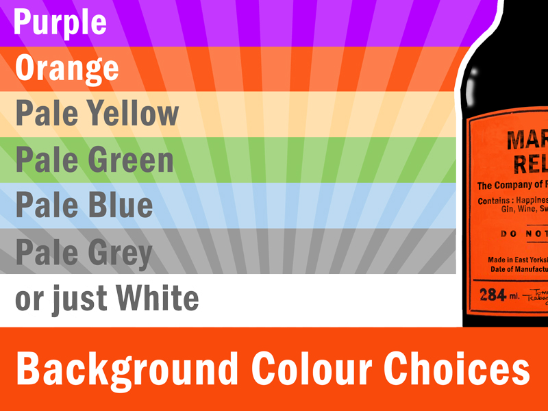 Choose your personalised Hendo's print background colours